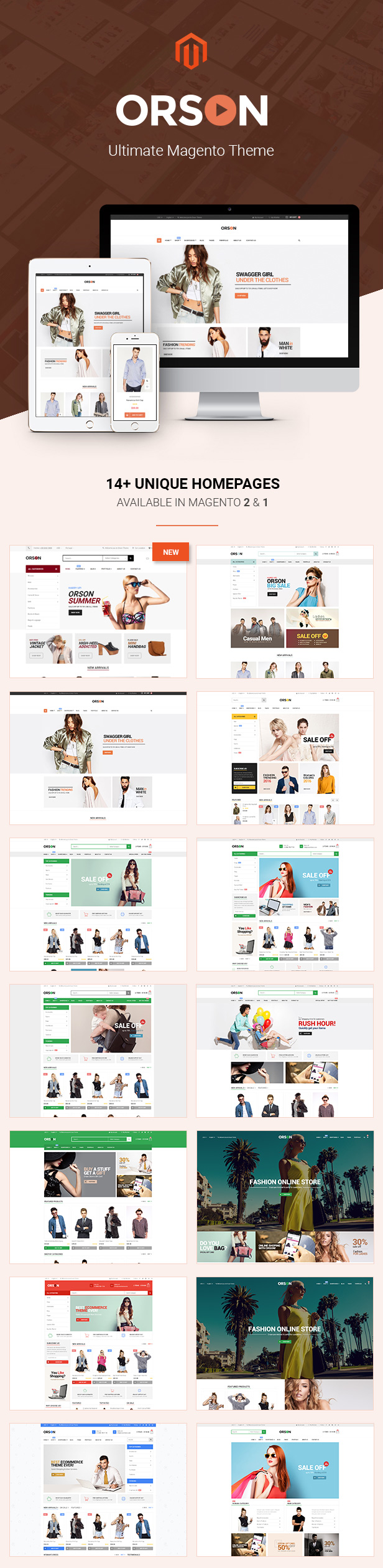 02 homepages 1 - Orson - Ultimate Magento 2 & 1 Theme
